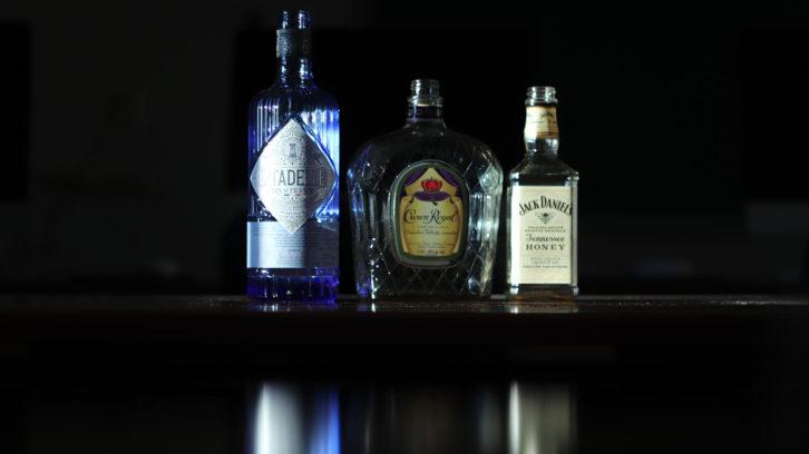 Photo illustration of bottles.