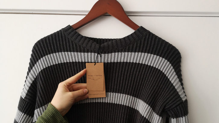 A shirt made from local, sustainable material at Sattva Boutique.