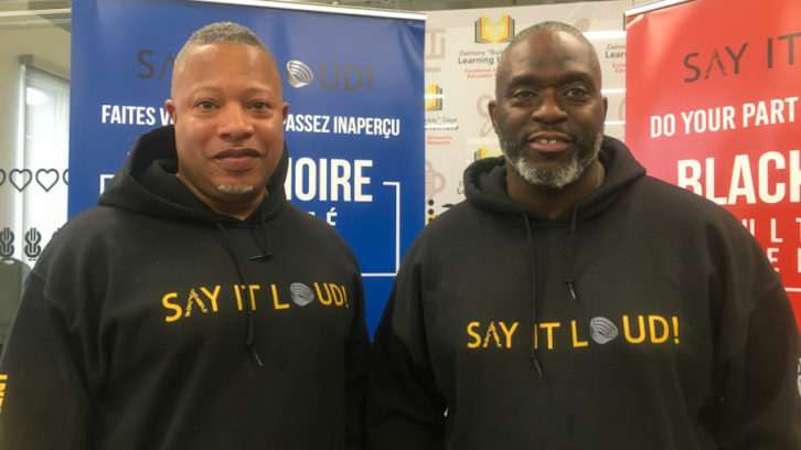 SAY IT LOUD co-founders. Roderick Brereton left, Farley Flex right