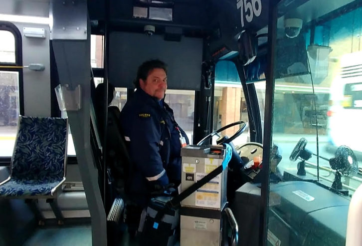 Halifax Transit driver Darrell Spurr said brightening someone's day is like watching them unwrap a Christmas present.