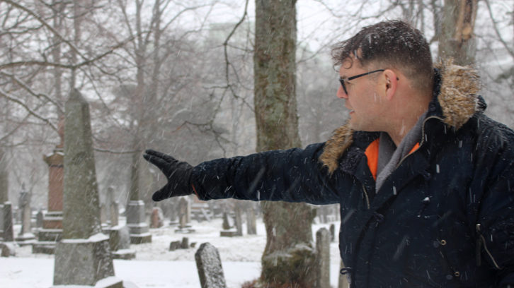 Craig Ferguson posts about Halifax graveyard history on his Twitter account, 'Dead in Halifax.'