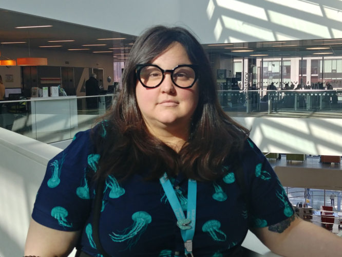 Halifax Public Libraries hired social worker Sheena Jamieson in January 2019.