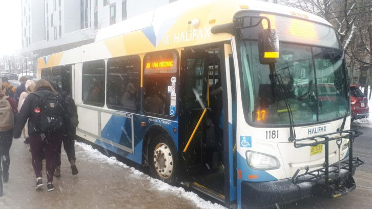Halifax Transit had some buses on snow plans due to the poor weather.