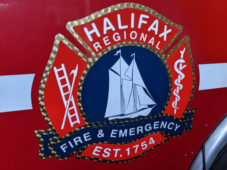 Emblem from an HRFE firetruck in station 2.