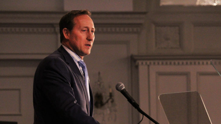 Peter MacKay addresses the crowd during Saturday's Conservative federal leadership forum.