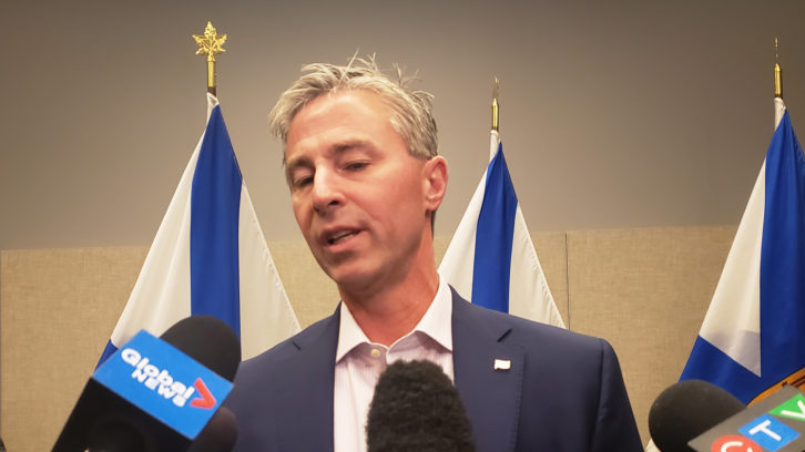 Nova Scotia Progressive Conservative leader, Tim Houston, speaks to members of the media Thursday morning.