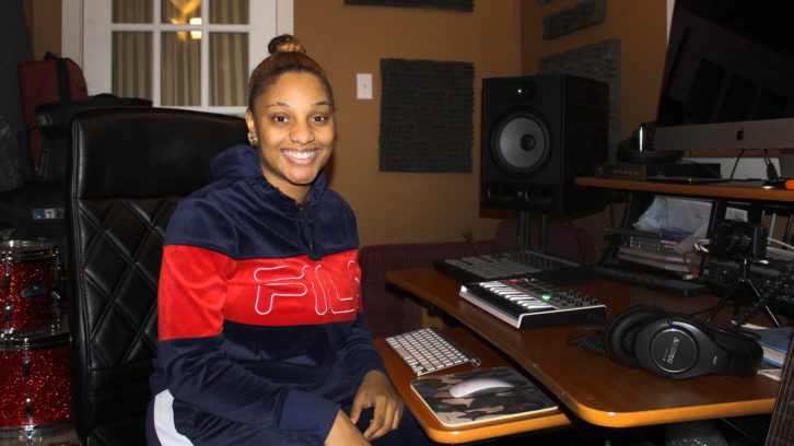 Reeny Smith in her home studio