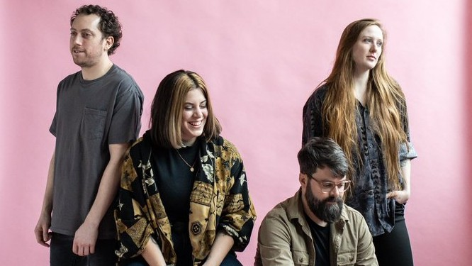 Halifax-based rock band Hello Delaware was founded in 2014 by vocalist Dana Beeler. Pictured left to right are band members Eamonn Slattery, Beeler, Aaron Green and Tori Cameron.
