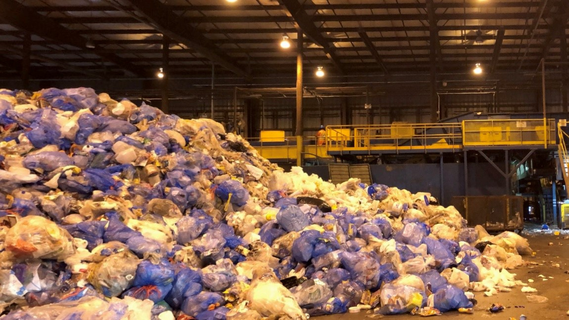 A recycling plant in Halifax near the Otter Lake landfill.