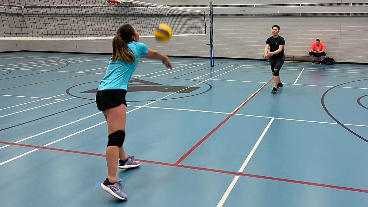 Halifax PLAYS participants warm up before a volleyball game on Oct. 21.