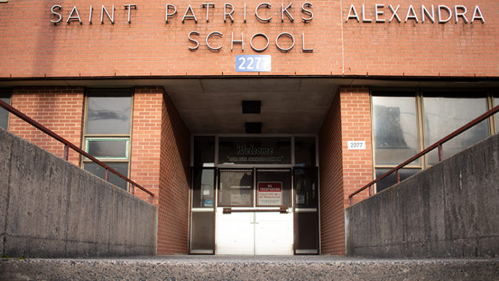 The Maitland Street entrance of St. Patrick's-Alexandra School.