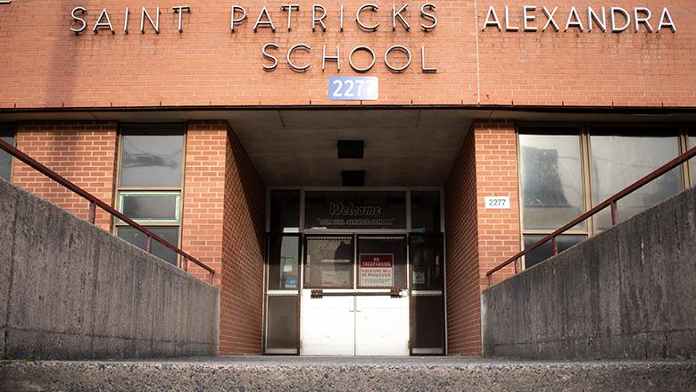 The Maitland Street entrance of St. Patrick's-Alexandra School.