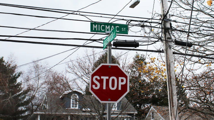 Micmac Street in Halifax is one of several streets in the HRM mentioned in Coun. Sam Austin's motion for a staff report to recommend changes to street names.
