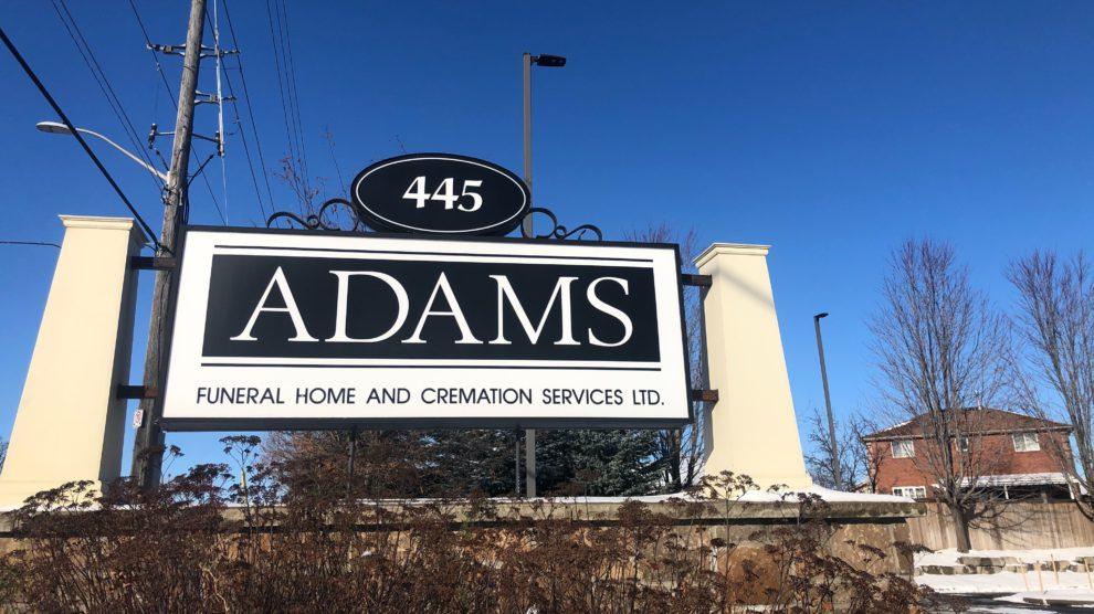 Adams Funeral Home.