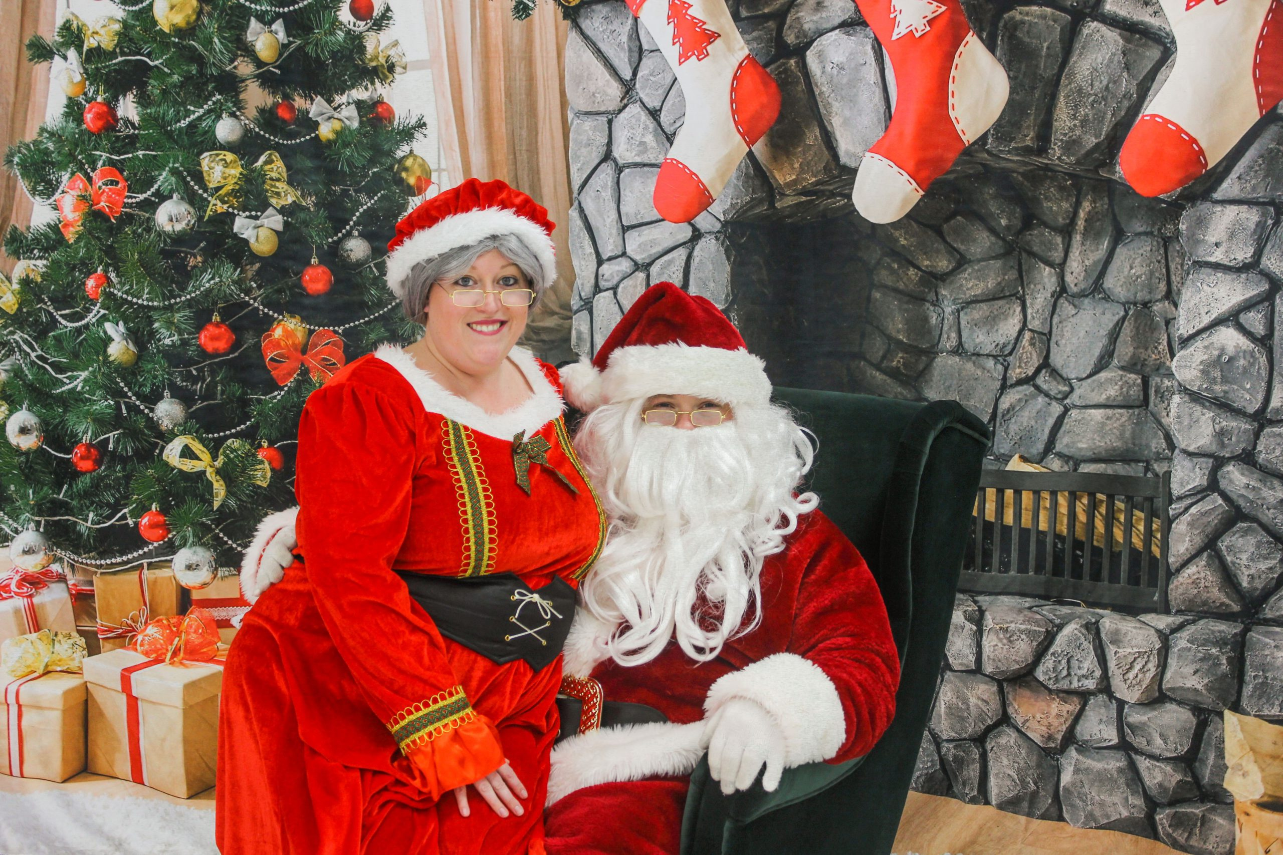 Lee and Megan Rodgers from Spryfield have been dressing up as Santa and Mrs. Claus for six years.