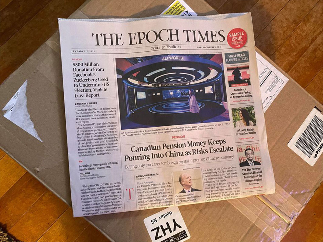 MPs are hearing complaints from people who are receiving unsolicited copies of the Epoch Times.