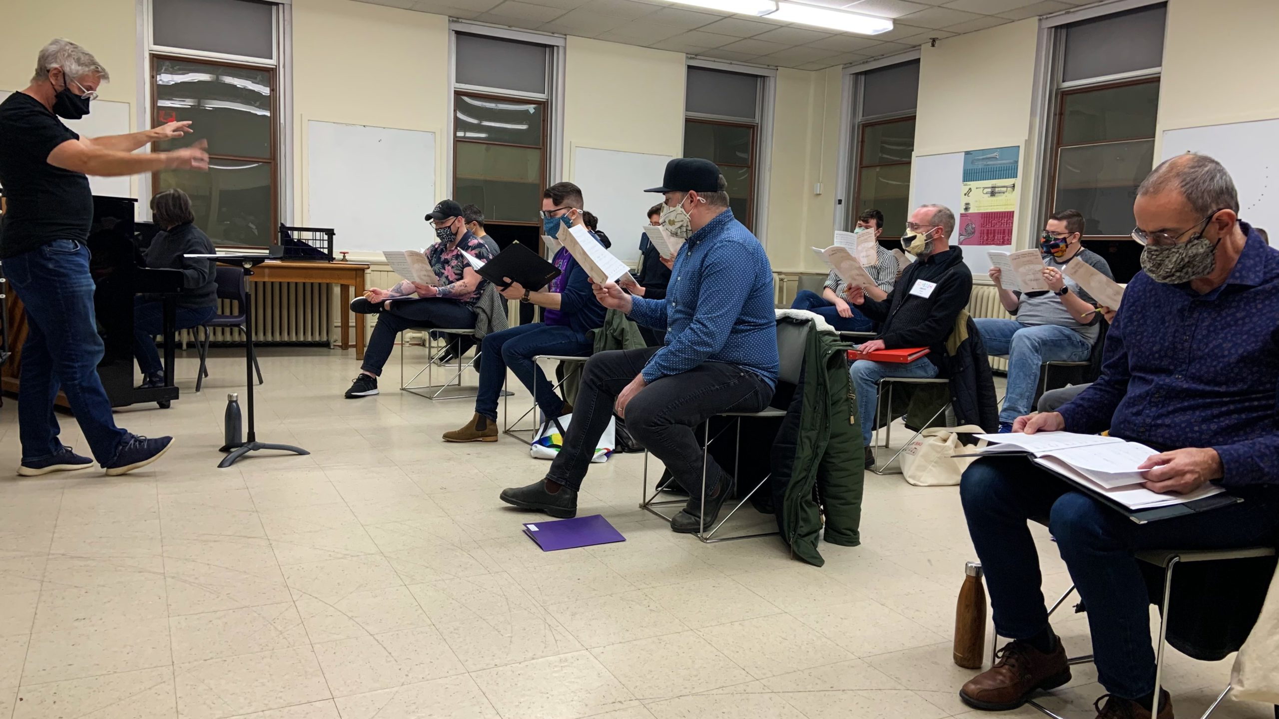 The Halifax Gay Men's Chorus rehearse for the first time this year.