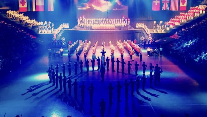 A performance at the Royal Nova Scotia International Tattoo.