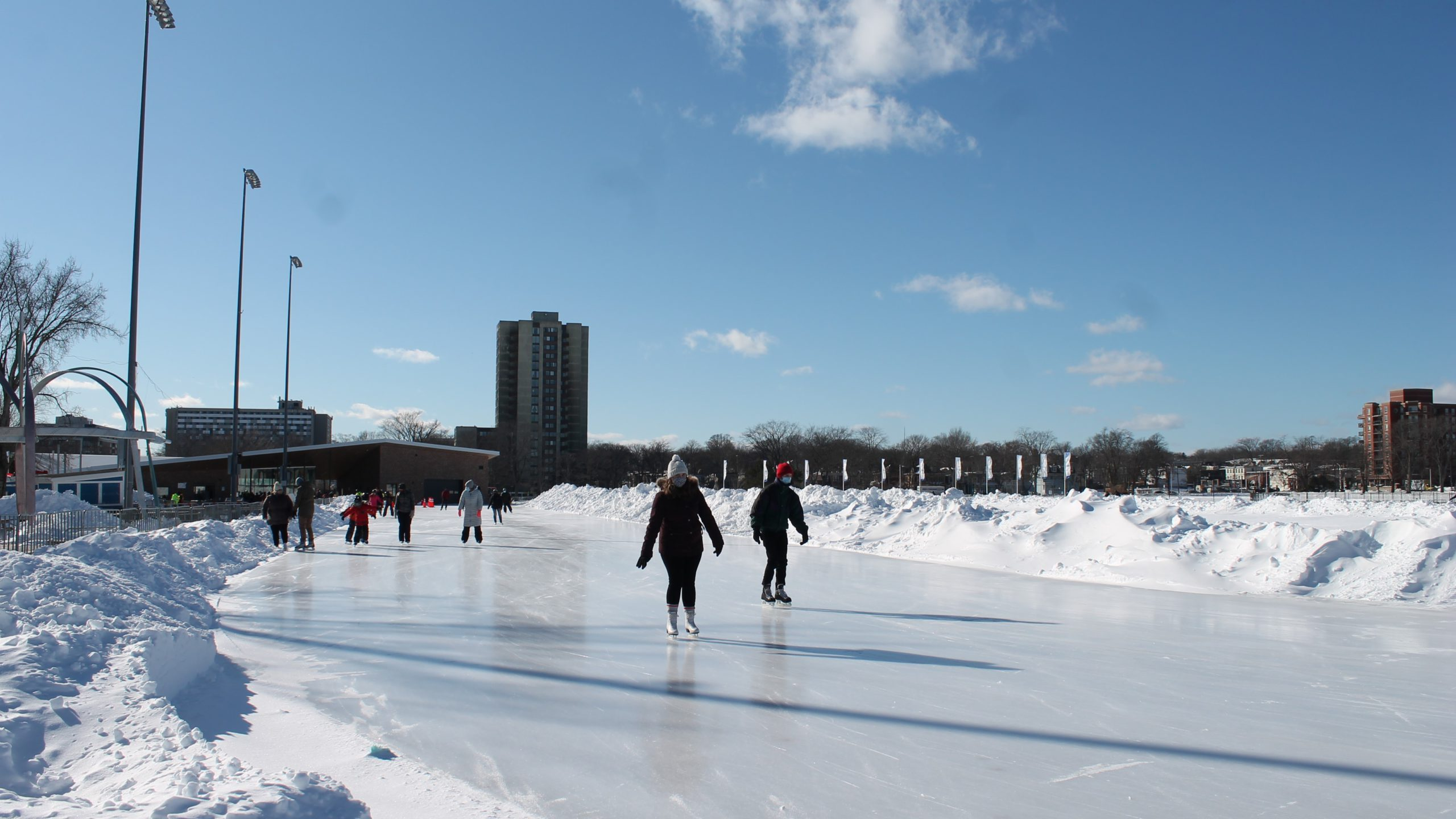 As of Monday, 300 people will be allowed to skate at once on the Emera Oval.