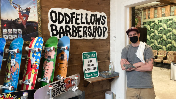 Joel Martell runs the Oddfellows Barbershop, a small business nestled in the back of the Pro Skates shop on Quinpool Road.