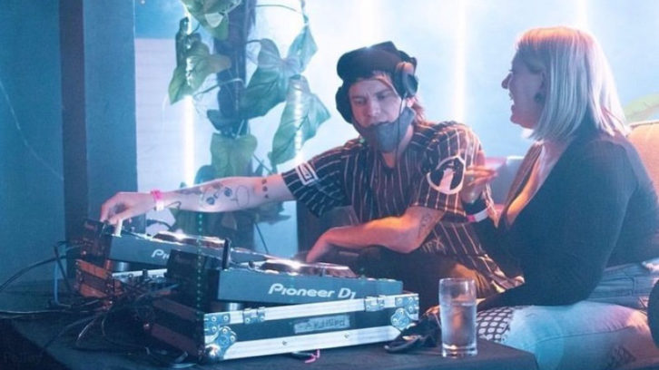 Troy Power and DJ Lyra performing at the Derby Showbar