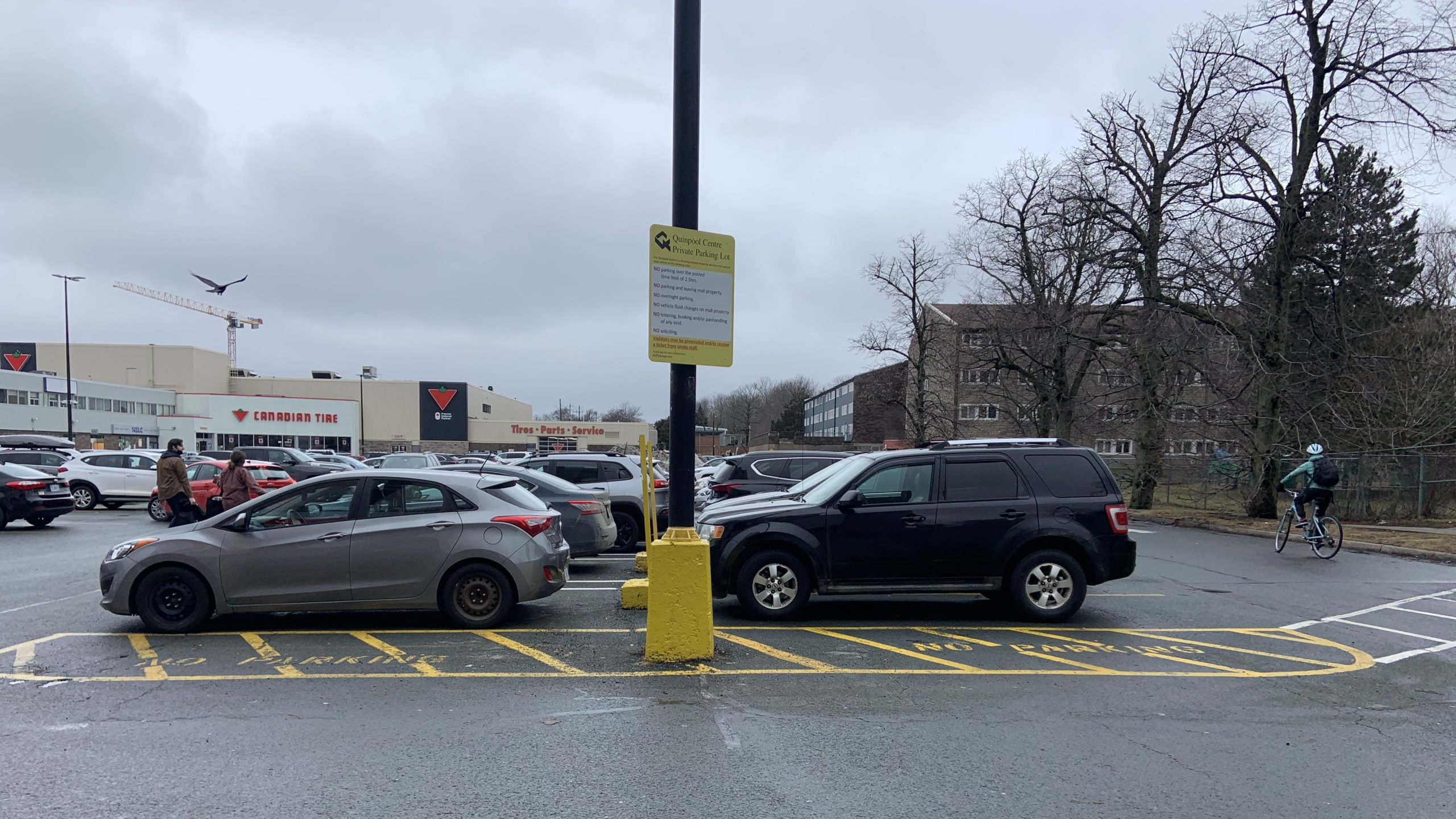 Michael Szego says that parking lots should be more sustainable and conscious of pedestrians and active transportation users.