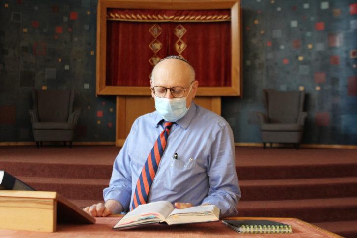 Rabbi Gary Karlin, at the Shaar Shalom Synagogue in Halifax