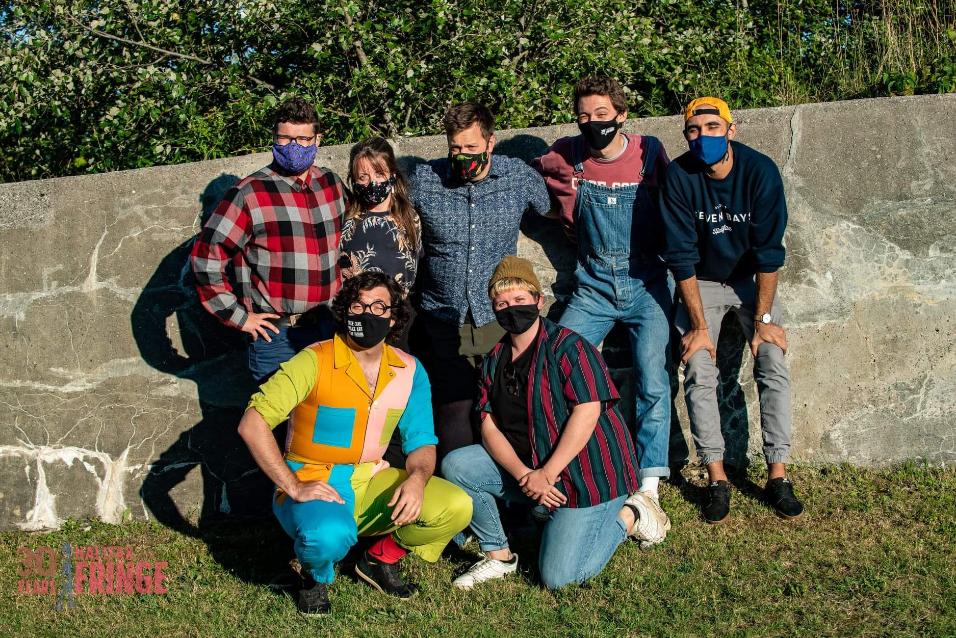 Hello City troupe (with the exception of Beth Poulsen) pose at Shakespeare by the Sea in Point Pleasant Park on Saturday, September 12, 2020. The troupe had performed an improv show at the 30th Halifax Fringe Festival during the pandemic.