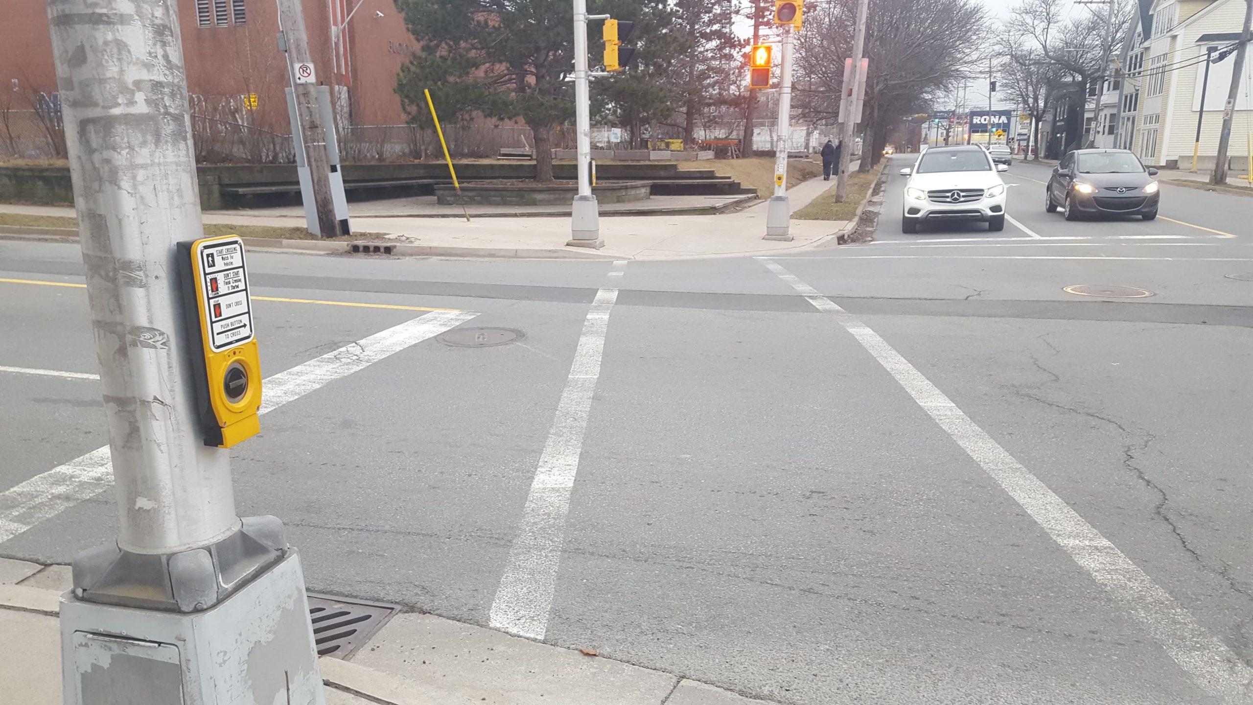 An Accessible Pedestrian Signal in Halifax.
