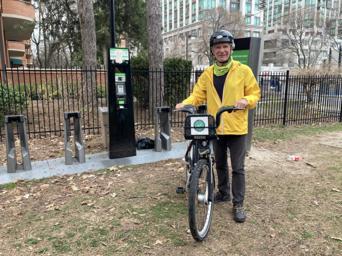 Avid cyclist David Nash uses bike sharing for in-town trips when it's not convenient to take his own bike and during the winter.
