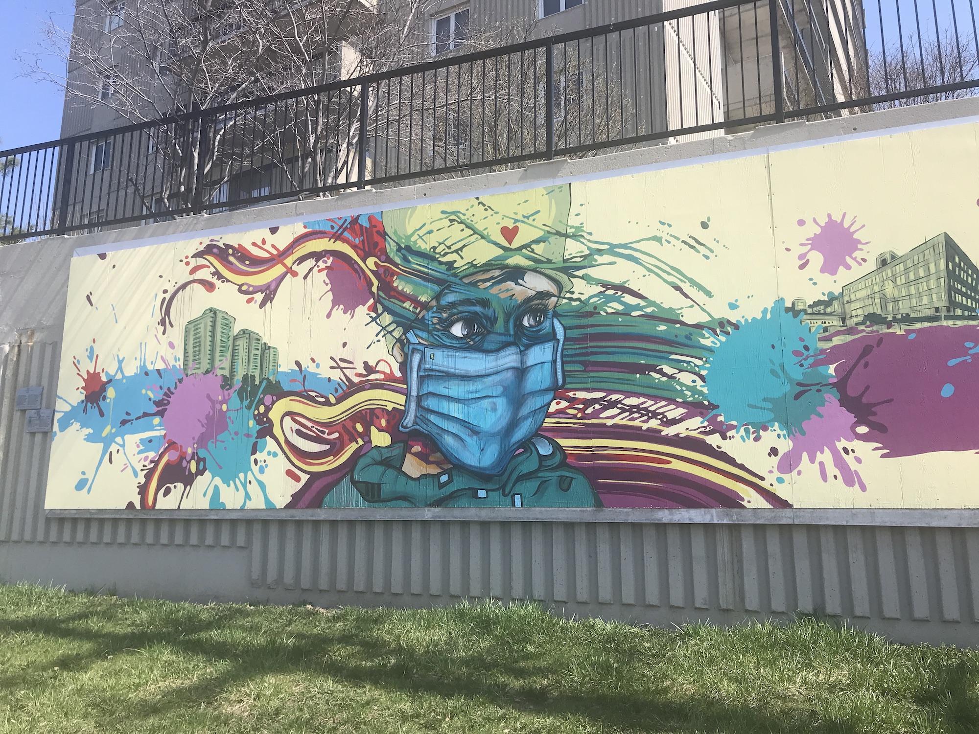 Street art along Vanier Parkway in Ottawa