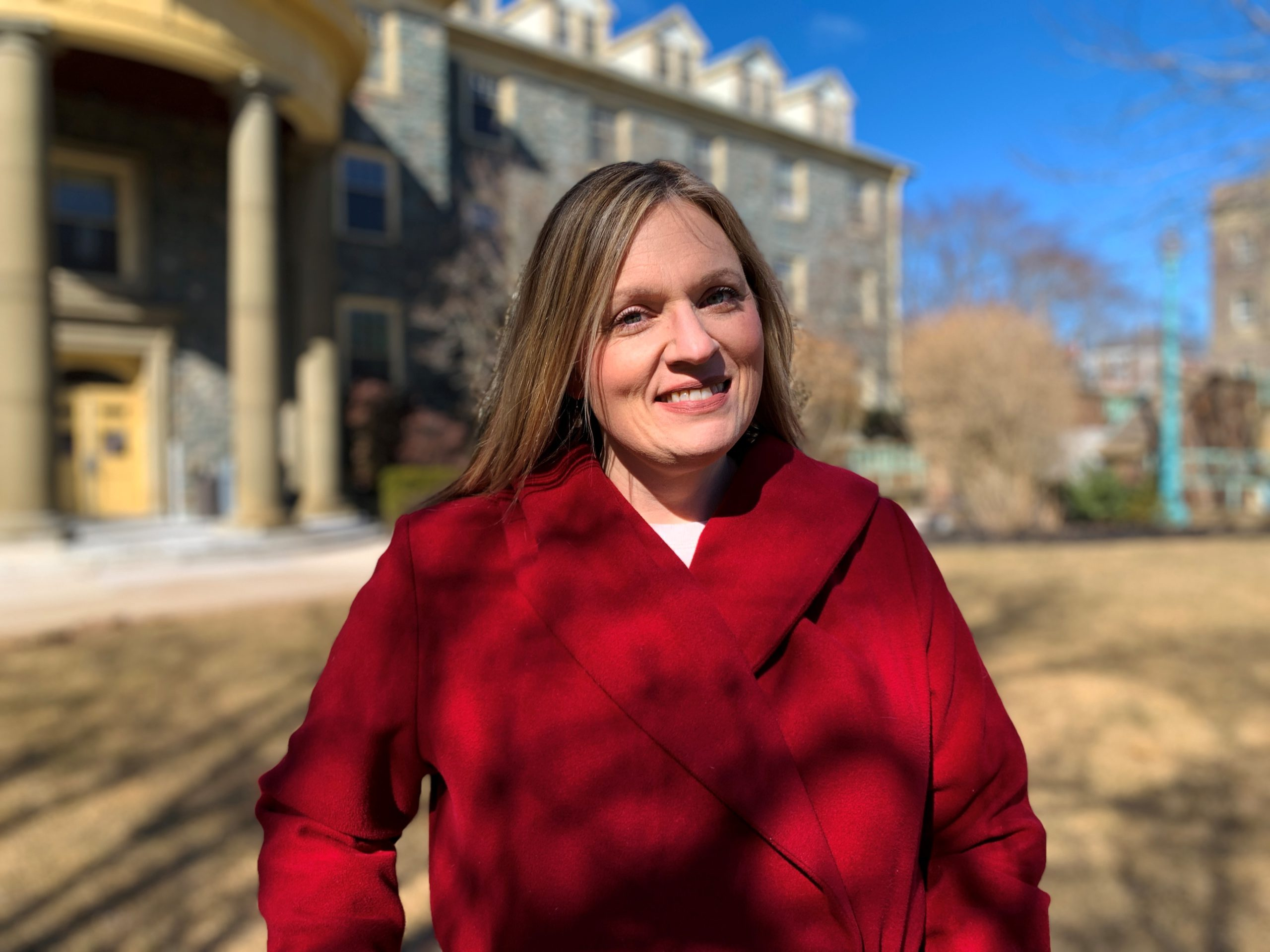 IAPMD's executive director Sandi MacDonald poses for her portrait at the University of King's College in Halifax on March 16, 2021.